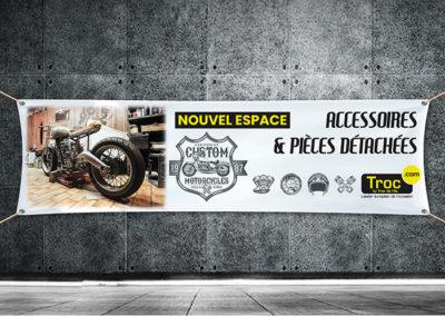 bâche publicitaire moto troc.com