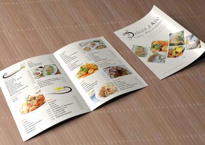 logo et carte traiteur restaurant