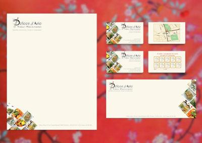 création logo, papeterie carte de visite
