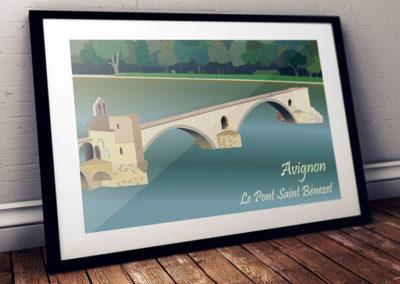 pont d'avignon dessin vectoriel